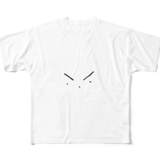 目、鼻、口。 Full graphic T-shirts
