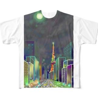 moonlight garden Full graphic T-shirts