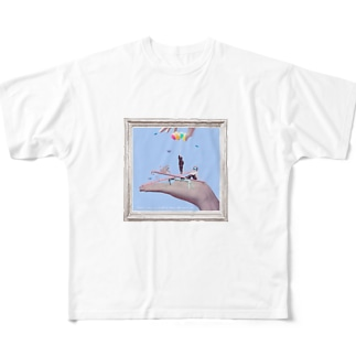 Marionette(flame-C) Full graphic T-shirts