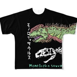 モノロフォサウルスのTシャツ Full graphic T-shirts