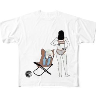お着替えガール Full graphic T-shirts