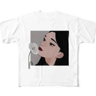 ヒナゲシ(透過) Full graphic T-shirts