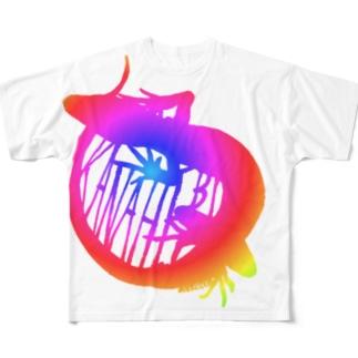 カナヘビ(総天然色) Full graphic T-shirts