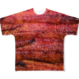 土用の丑の日は鰻 Full graphic T-shirts