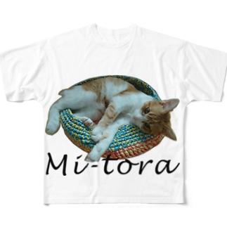 鍋ねこ Full graphic T-shirts