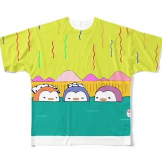 ペンギン温泉会 Full graphic T-shirts