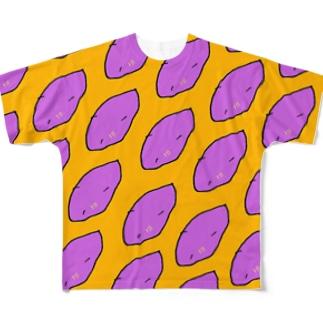 さつまいも柄 Full graphic T-shirts