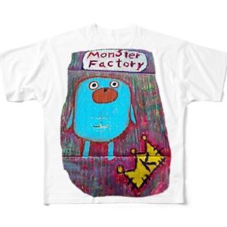 モンスター工場🏭 タイツ Full graphic T-shirts