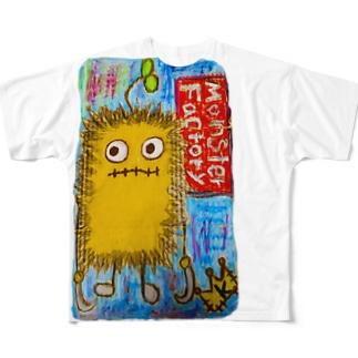 モンスター工場🏭 ブラー Full graphic T-shirts