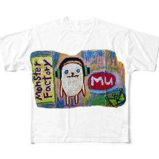モンスター工場🏭ミュー Full graphic T-shirts