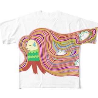 アマビエ様が行く Full graphic T-shirts