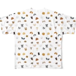 ワンコがいっぱい(小型犬) Full graphic T-shirts