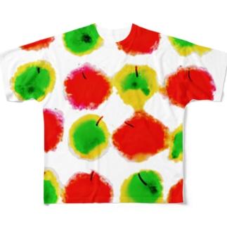 赤青リンゴ 3 Full graphic T-shirts
