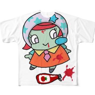 ちょむゾン★ケチャップおいちい。 Full graphic T-shirts