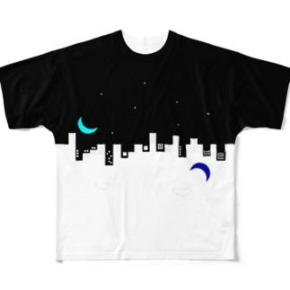 【夜】いっしょうけんめいパワポで作ったロゴの服 Full graphic T-shirts