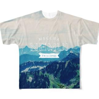OFUZAKEのMN_MOUNTAIN2 Full graphic T-shirts