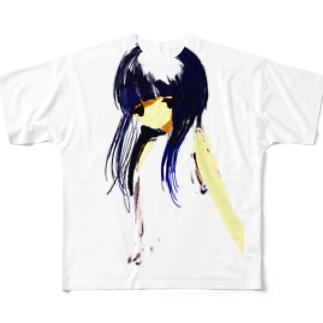 女の子 病み 血 Full graphic T-shirts