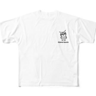 コノハズクさん Full graphic T-shirts