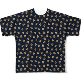 フルグラフィック将棋駒タイポ Full graphic T-shirts