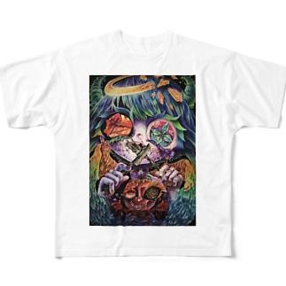 堕天と云う幸福 Full graphic T-shirts