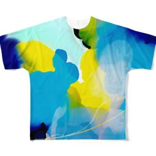 海クラゲ Full graphic T-shirts