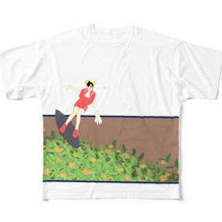金木犀衝浪少女 Full graphic T-shirts
