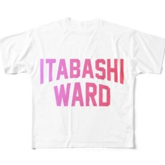 板橋区 ITABASHI WARD Full graphic T-shirts
