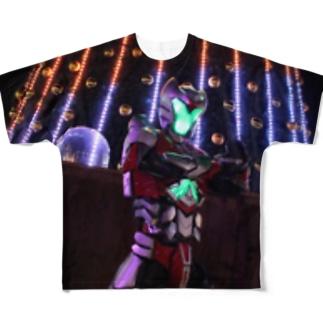 次元戦士オルファム_ライティング Full graphic T-shirts