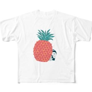 MINI BANANA パイナップル Full graphic T-shirts