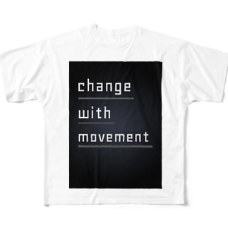 change with movement ~動きと共に変化する~ Full graphic T-shirts