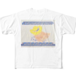 8月末の女の子 Full graphic T-shirts