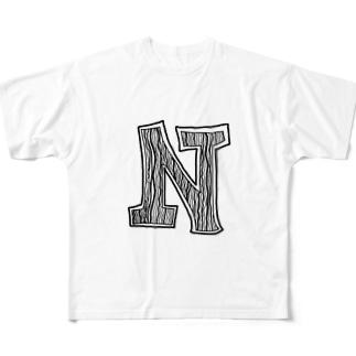 磁石シリーズ(N極) Full graphic T-shirts