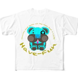 ベアHF-チョコミント2 Full graphic T-shirts