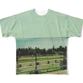 blue. Full graphic T-shirts