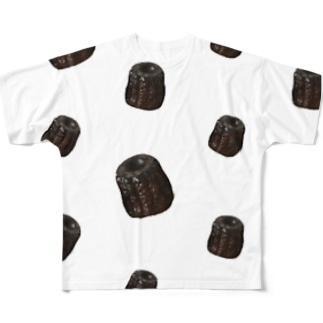 カヌレいっぱい Full Graphic T-Shirt