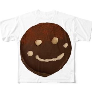 ザッハトルテの微笑み Full graphic T-shirts