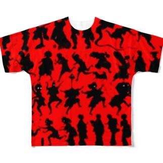 しん板かげゑづくし Full graphic T-shirts