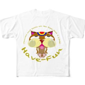猫HF-BMWチョコ2 Full graphic T-shirts