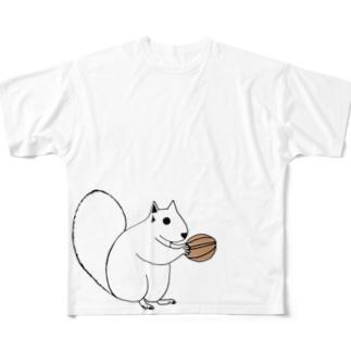クルミをもつもの Full graphic T-shirts