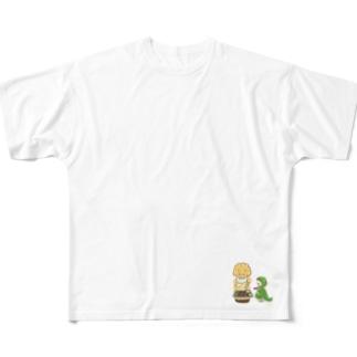 腹ペコサウルス Full graphic T-shirts