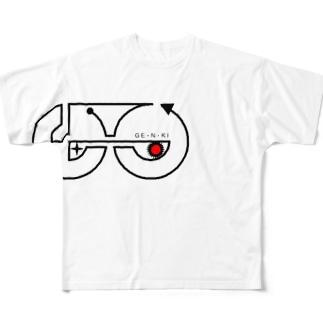 げんき塾 Full graphic T-shirts