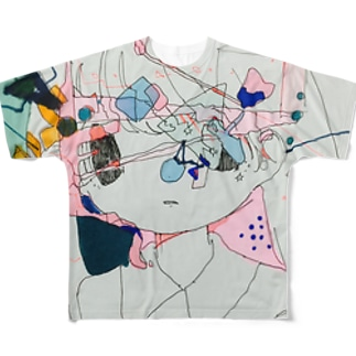 □△?〇 Full graphic T-shirts