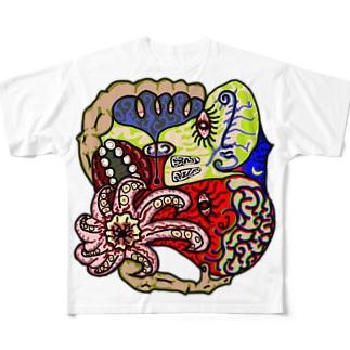 蛸の夜空 Full graphic T-shirts