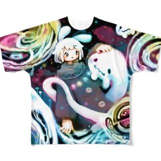 ぎゃらくしーおばけ Full graphic T-shirts