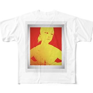 手ぶら Full graphic T-shirts