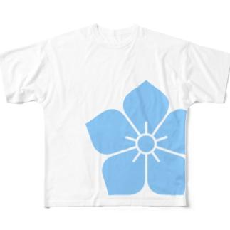 明智光秀(水色桔梗紋) Full Graphic T-Shirt