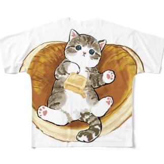 にゃんこパンケーキ Full graphic T-shirts