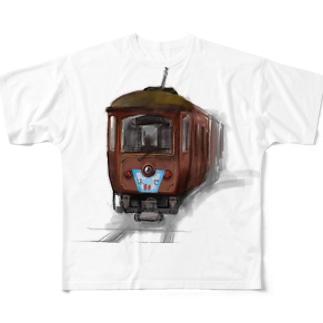 江ノ電の思い出 Full graphic T-shirts