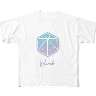 遊びイメージアイコン「かくれんぼ」 Full graphic T-shirts