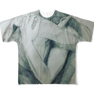 ヴィクトリーhumanism T-shirt Full graphic T-shirts